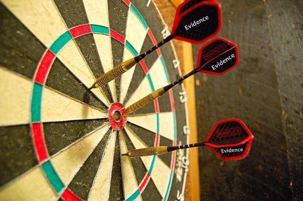 evidence dart board