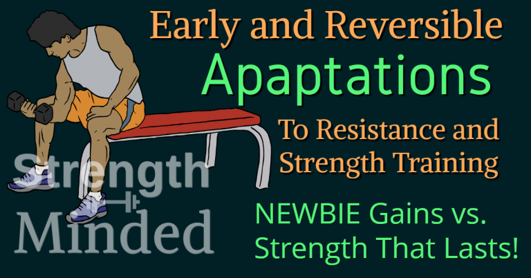 Early and reversible adaptations to resistance and strength training: newbie gains